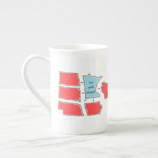 Blue State Minnesota Tea Cup