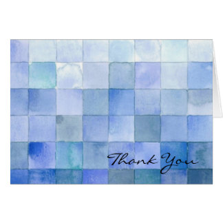 Blue Stationery Note Card