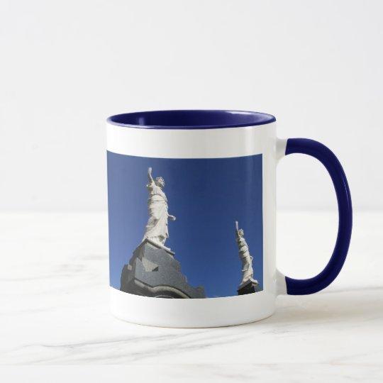 Blue Statue Mug