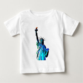 Blue Statue of Lady Liberty Baby T-Shirt