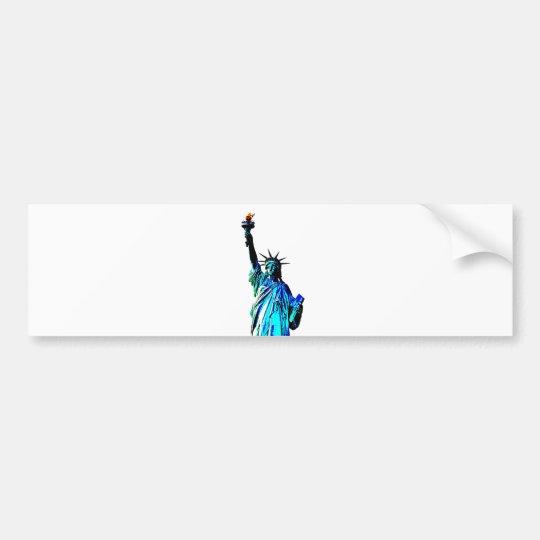 Blue Statue of Lady Liberty Bumper Sticker