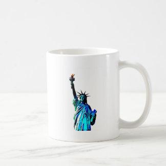 Blue Statue of Lady Liberty Coffee Mug