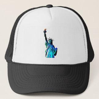 Blue Statue of Lady Liberty Trucker Hat