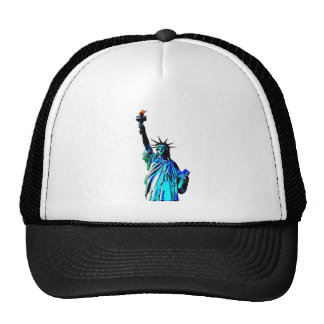 Blue Statue of Lady Liberty Trucker Hat