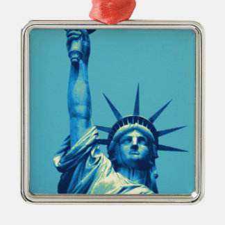Blue Statue of Liberty Christmas Ornaments