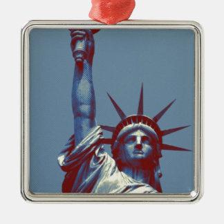 Blue Statue of Liberty Christmas Tree Ornaments
