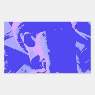 Blue Statue of Liberty Rectangular Sticker
