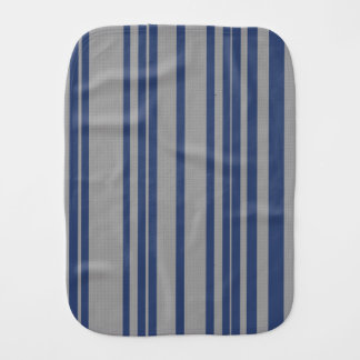 Blue steel gray awning stripe baby cloth burp cloths