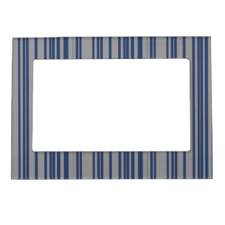 Blue steel gray awning stripe magnetic frames