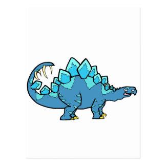 Blue Stegasaurus Postcard
