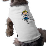 Blue Stick Figure Cheerleader T-shirts and Gifts Pet Tee
