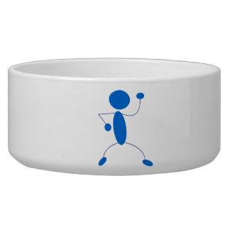 Blue Stick Figure Dancing Pet Bowls