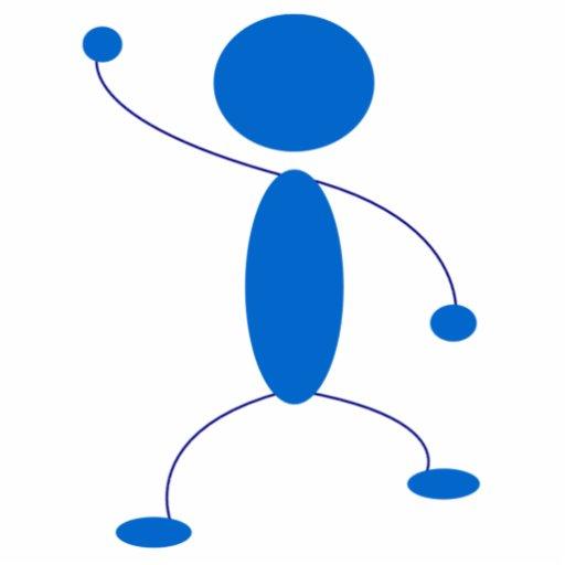 Blue Stick Figure Dancing Photo Cut Out Zazzle