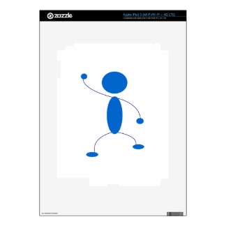 Blue Stick Figure Dancing Skins For iPad 3