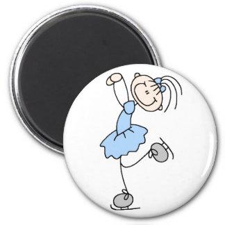 Blue Stick Figure Girl Skater Magnet Magnet