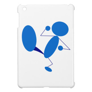 Blue Stick Figure Kicking Case For The iPad Mini