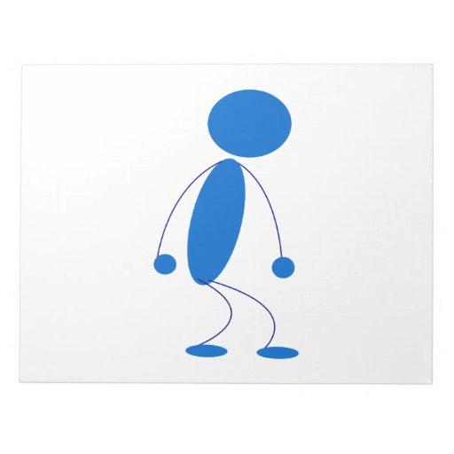 Blue Stick Figure Mad Note Pads