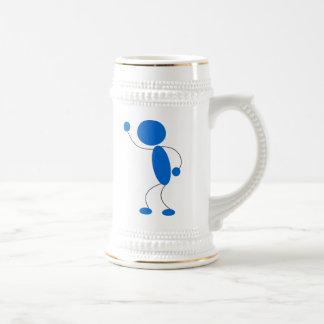 Blue Stick Figure Yelling Beer Stein