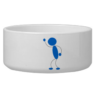 Blue Stick Figure Yelling Pet Water Bowls