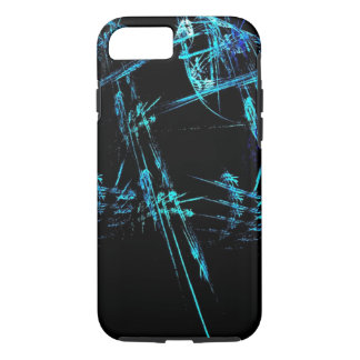 Blue Stick Man iPhone 7 case