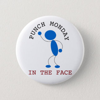 Blue Stick Man: Punch Monday In The Face Button