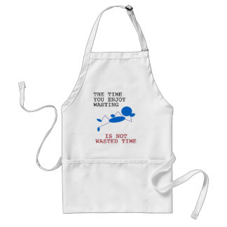 Blue Stick Man - The Time You Spending Wasting Adult Apron