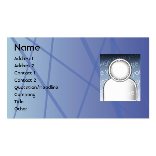 Blue Sticks - Business Double-Sided Standard Business Cards (Pack Of 100)