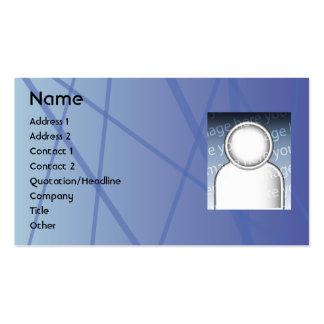 Blue Sticks - Business Business Card Templates