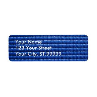 Blue Sticky Yoga Mat Address Label