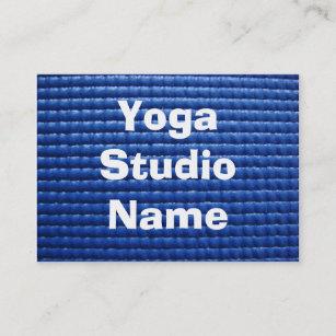 Sticky business cards templates zazzle blue sticky yoga mat business card colourmoves