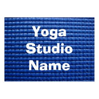 Blue Sticky Yoga Mat Large Business Card