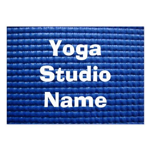 Blue Sticky Yoga Mat Large Business Card Zazzle