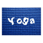 Blue Sticky Yoga Mat & Wood Floor Large Business Cards (Pack Of 100)