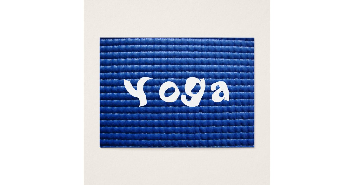Blue Sticky Yoga Mat & Wood Floor Business Card | Zazzle.com