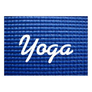 Blue Sticky Yoga Mat & Wood Floor Large Business Card