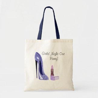 Blue Stiletto Shoe and Lipstick Art Bag