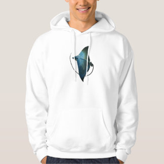 Blue Stingray Illustration Hoodie