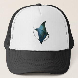 Blue Stingray Illustration Trucker Hat
