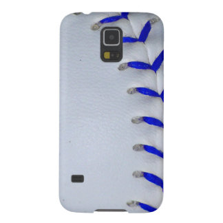 Blue Stitches Baseball / Softball Case For Galaxy S5