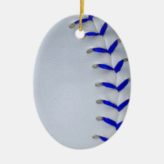 Blue Stitches Baseball / Softball Ceramic Ornament