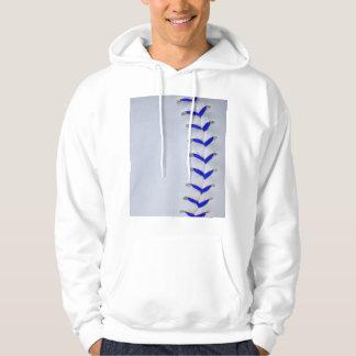 Blue Stitches Baseball / Softball Hoodie