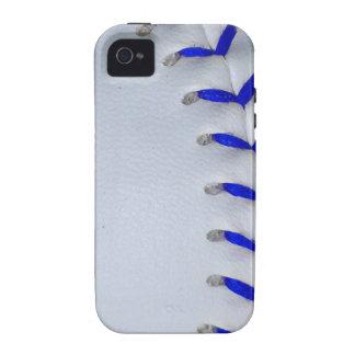 Blue Stitches Baseball / Softball iPhone 4/4S Cases