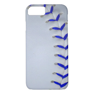 Blue Stitches Baseball / Softball iPhone 8/7 Case