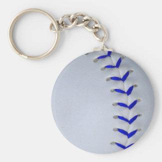 Blue Stitches Baseball / Softball Key Chain