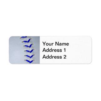 Blue Stitches Baseball / Softball Label