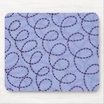 Blue Stitches Mousepad