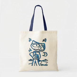 Blue Stitchlip on Highway (Cat Super Hero) Bags