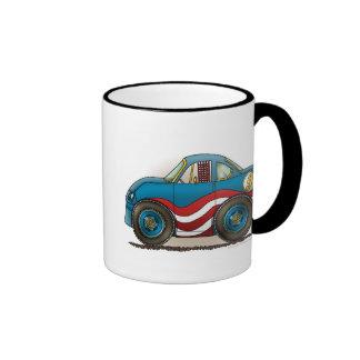 Blue Stock Car Mugs
