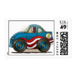 Blue Stock Car Stamps