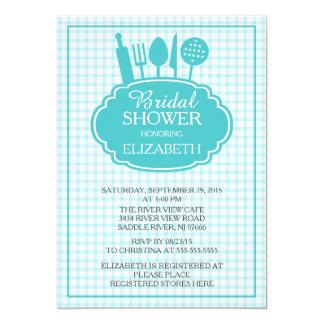Blue Stock the Kitchen Bridal Shower Invitation